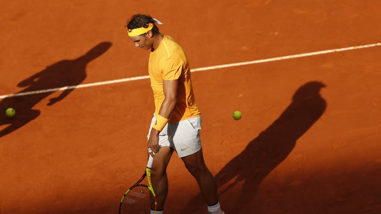 Shock loss: Rafa Nadal was beaten by Dominic Thiem.