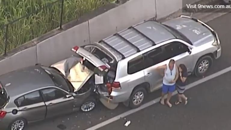 Several vehicles were involved in the crash that has closed the Bruce Highway.
