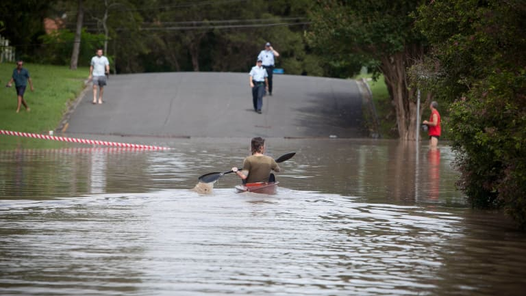 Flooding in the Brisbane suburb of Fairfield in 2011.
