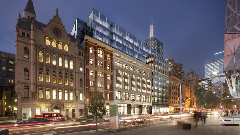 Dexus' new office building at 180 Flinders Street will feature large campus-style floorplates.