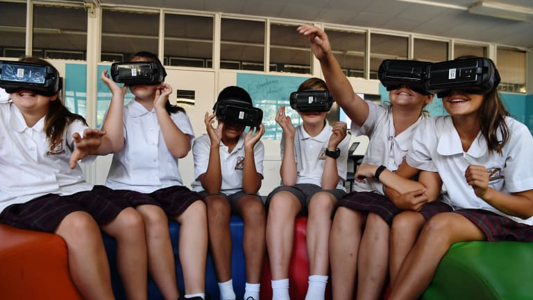 """It opens up a world outside school"":  Year 7 students at Campbelltown Performing Arts High School are using virtual and augmented reality to solve real-world problems."