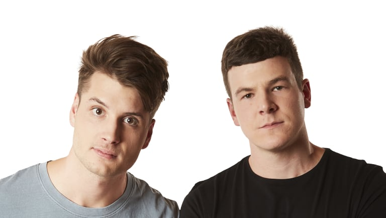Breakfast presenters Ned Breward and Josh Torney only started at Hit 104.7 this year but have picked up listeners.