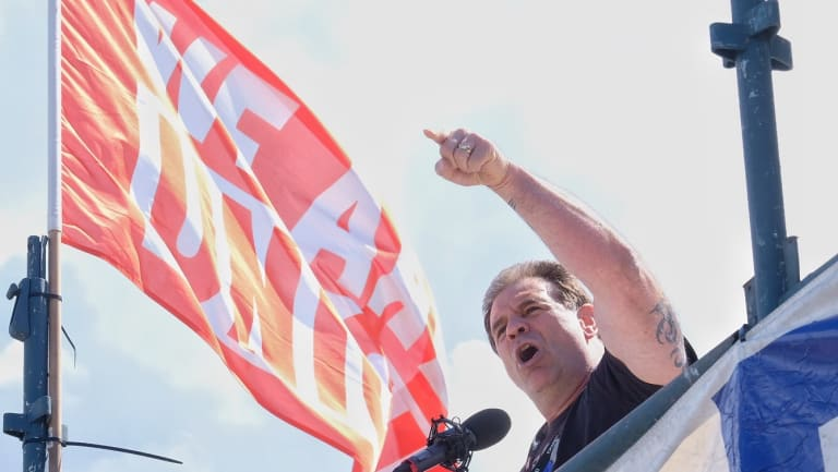 CFMEU state secretary John Setka openly supported breaking the law, when addressing a waterfront rally.