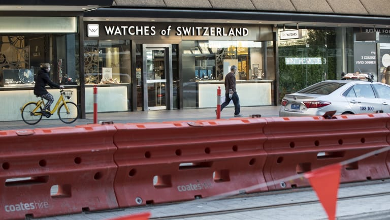 Watches of Switzerland is suing the NSW government for $4 million for losses it claims to have suffered from construction of the CBD light rail.