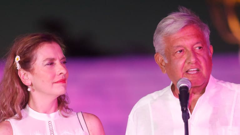 Andres Manuel Lopez Obrador, presidential candidate of the National Regeneration Movement Party (MORENA).