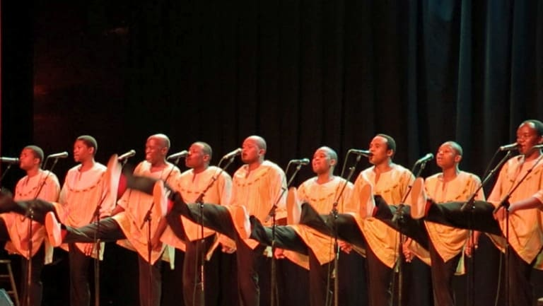 Performing at Aladdin Theatre in Portland, Oregon.