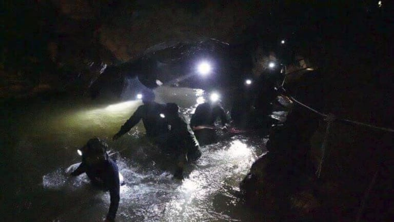 Thai rescue teams face a big challenge in getting the boys to safety.