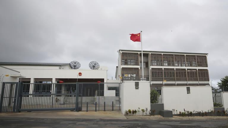 The sprawling Chinese embassy in Vanuatu.