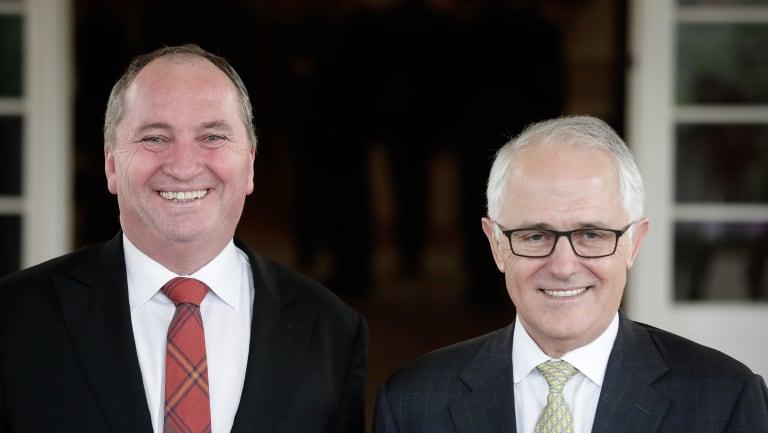 Deputy Prime Minister Barnaby Joyce with Prime Minister Malcolm Turnbull.