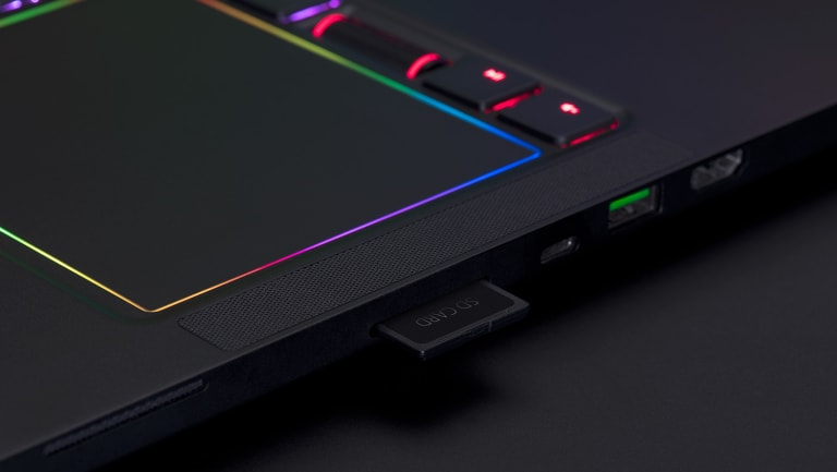 The Blade Pro is big, bit it's thin and light by 17-inch gaming laptop standards.