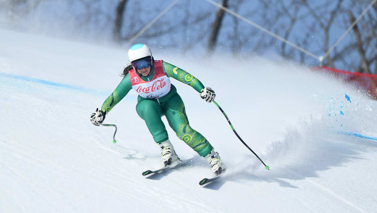 Melissa Perrine won a bronze medal in the women's standing super combined.