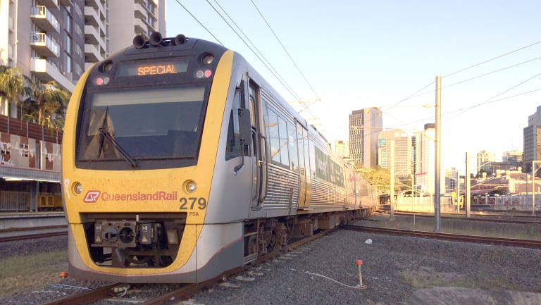 Delays were due to a fault at Carseldine, Queensland Rail said.