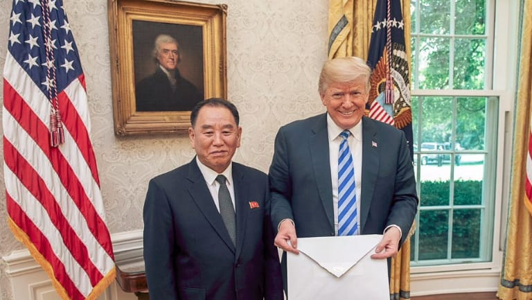 Trump, Kim Jong Chol, and a letter from Kim Jong-un.