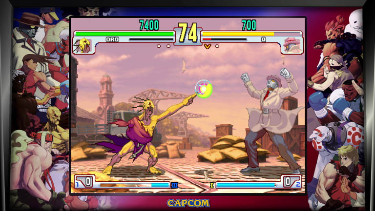 Things get weird in Street Fighter III.