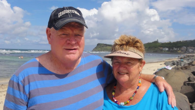 Max Campbell with his wife, Lyn, in January 2014.