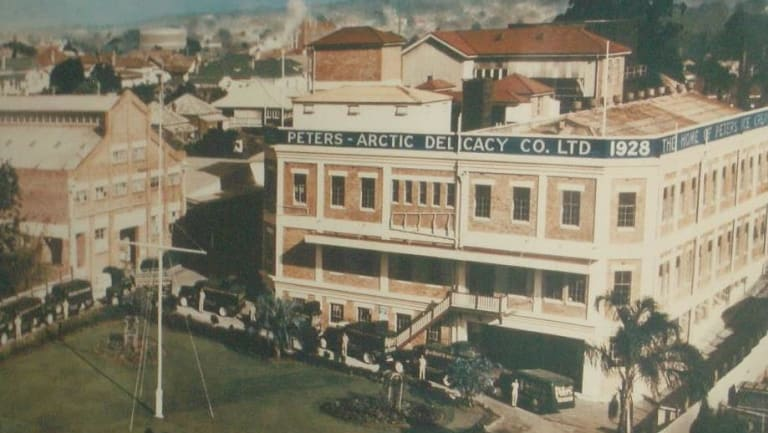 Peters Ice Cream factory opened in West End in 1928.