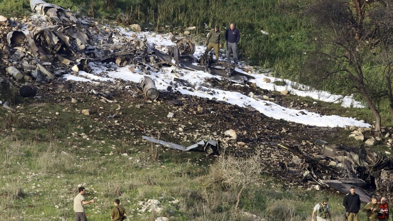 "The Israeli military shot down an Iranian drone it said infiltrated the country early Saturday before launching a ""large-scale attack"" on at least a dozen Iranian and Syrian targets inside Syria, in its most significant engagement since the fighting in neighboring Syria began in 2011."