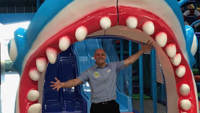 Mr L'Estrange opened the first Croc's Playcentre in New South Wales.