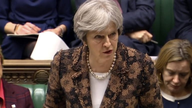 """A reckless act against the United Kingdom"": Theresa May."