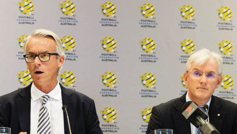 Northern exposure: FFA chief David Gallop and chairman Steven Lowy are expected to vote for the North American bid.