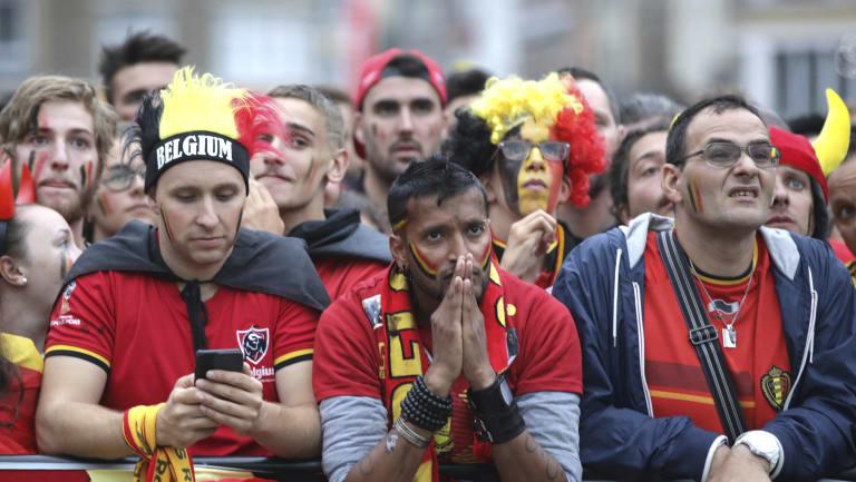 Broken dreams: Belgium fans have been left disappointed.