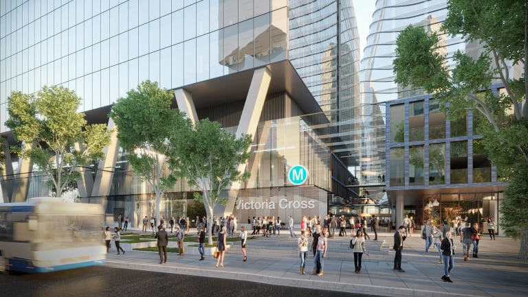 Artist's impression of Victoria Cross Station, which Lendlease is shortlisted to develop