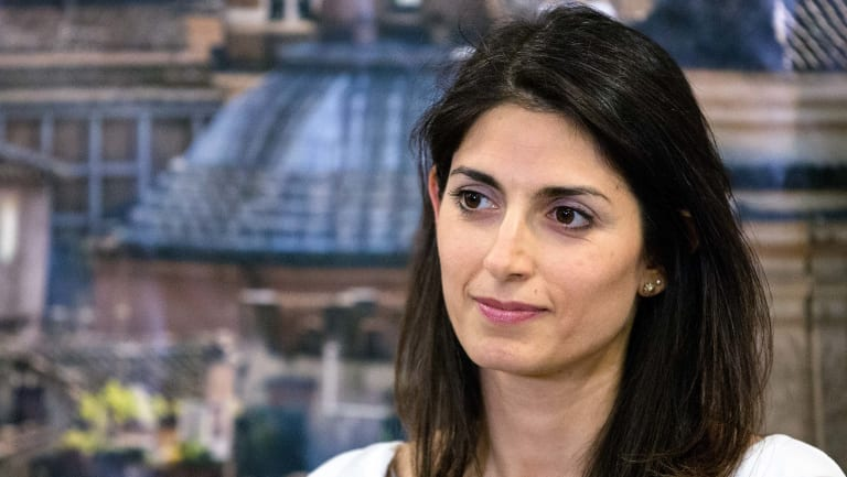 Overseeing the crisis: Virginia Raggi, Rome's mayor.