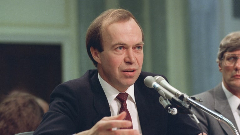 James Hansen, director of NASA's Goddard Institute for Space Studies in New York, warned the US Congress in 1988 that human-induced global warming was already underway and 'may have important implications other than for human comfort'. (This photo taken in 1989.)