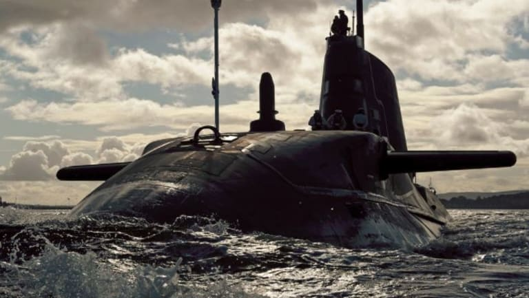 Ambush, the second of the Royal Navy's potent new Astute Class attack submarines in 2012.