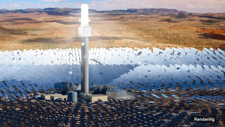 An artist's rendering of the Aurora Solar Thermal Plant.