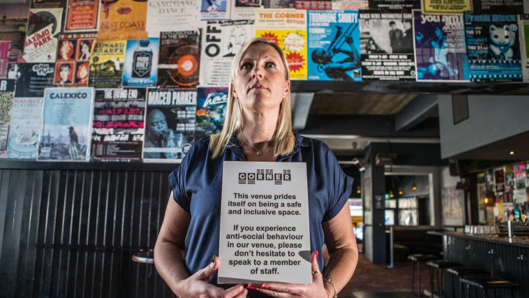 Lara Whalley, venue manager at the Corner Hotel, which has a safer spaces policy in place already.