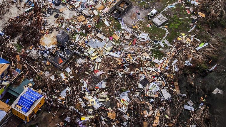 Hurricane Irma's destruction of the Virgin Islands.