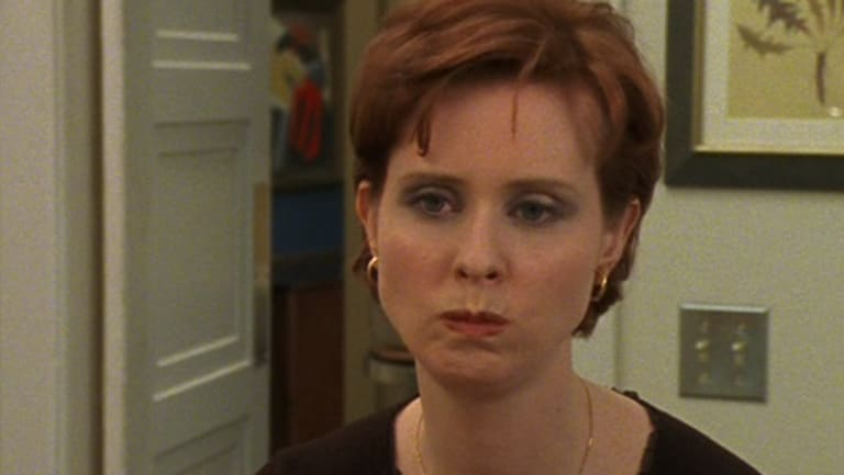 Cynthia Nixon as Miranda Hobbes in Sex and the City, circa 1998.