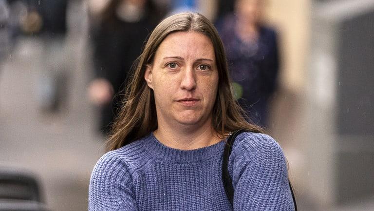 Amanda Warren outside the  County Court last week.