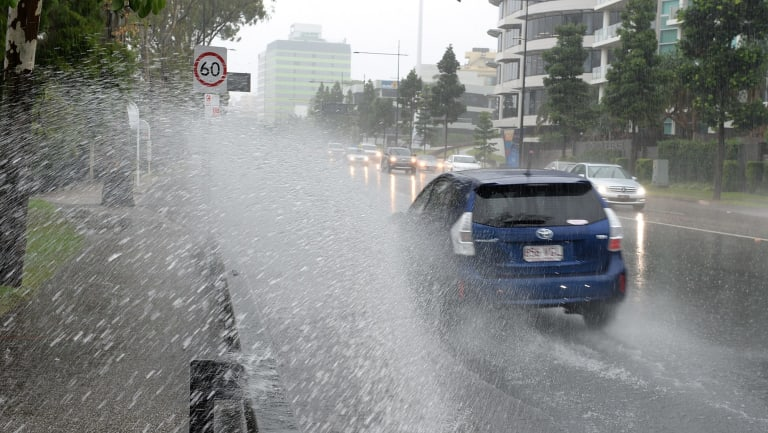 Brisbane received less than five centimetres of rain on Saturday, but surrounding areas were drenched. (File pic)