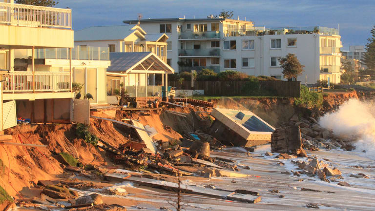 Collaroy Beach after an east coast low hit in June 2016. Extreme weather events are intensifying as the planet warms.