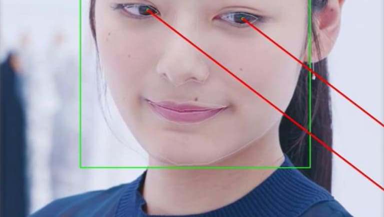 NEC's tech can not only recognise faces, but track gaze and give insights on a person's mood too.