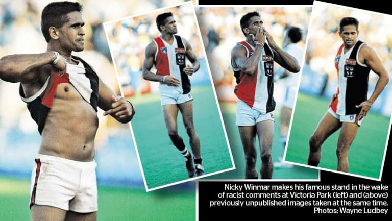 Nicky Winmar's famous protest.
