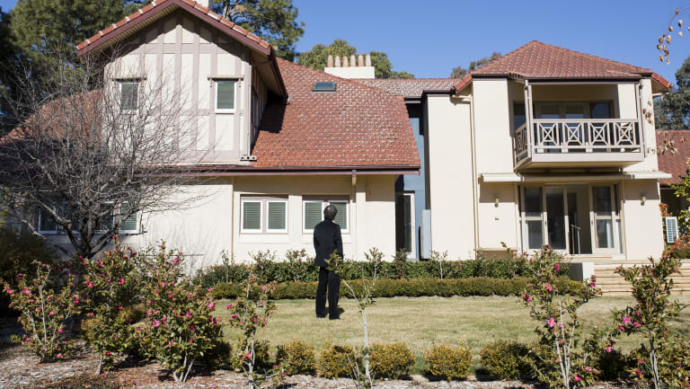 Jaehee Choi, who agreed to an interview on his purchase of the historic Westridge House in Yarralumla, but who is keeping some of the mystery by declining to be photographed other than from behind.