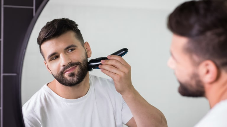 Close shave: Josh Mansour has partnered with grooming brand Braun to participate in its Sport of Shaving promotion.