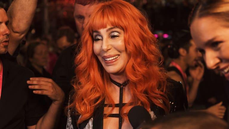 American singer Cher at the Sydney Mardi Gras.