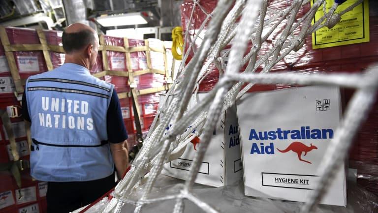 A majority of voters support Australia's overseas aid program
