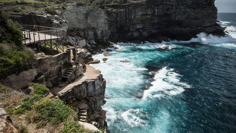 Part of the Vaucluse coastline where Sydney's last three ocean outfalls discharge untreated waste.