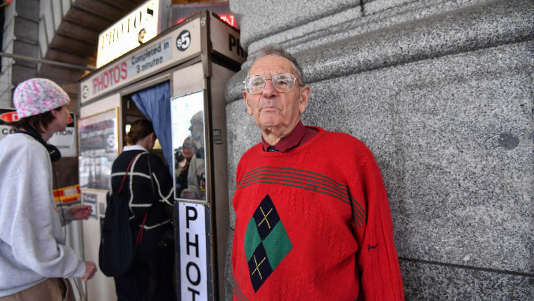 Alan Adler says his photo booth is being forced out of the spot it has had at Flinders Street Station for 46 years.