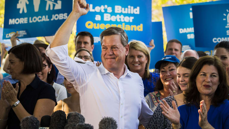 All smiles: LNP leader Tim Nicholls' party has outperformed Labor in declared donations.