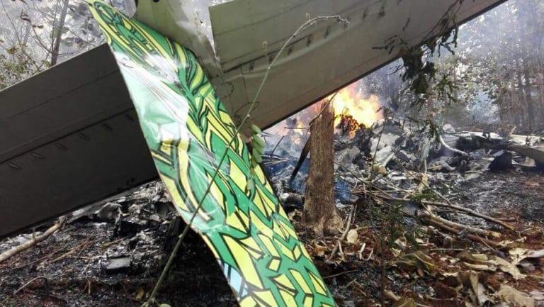 The site of a plane crash in Punta Islita, Guanacaste, Costa Rica