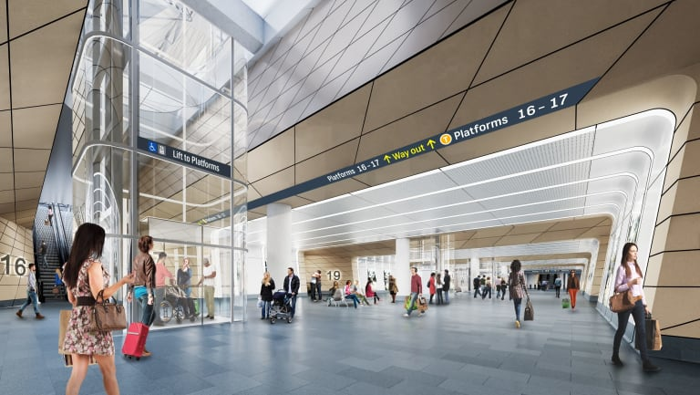 An artists impressions of Central Station.