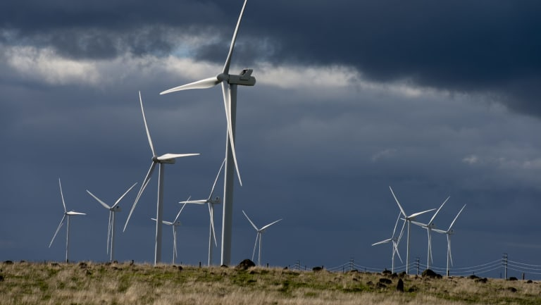 Macarthur wind farm in western Victoria. The Andrews government has set a target of zero net emissions by 2050.