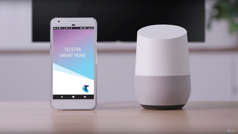Control your Telstra smart home with the app, or a smart speaker.