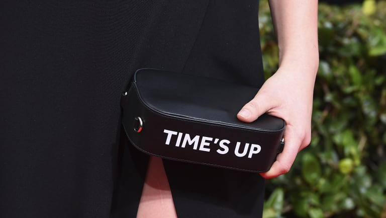 """Celebrities at the Golden Globe Awards called """"time's up"""" on sexual abusers this year by wearing black."""